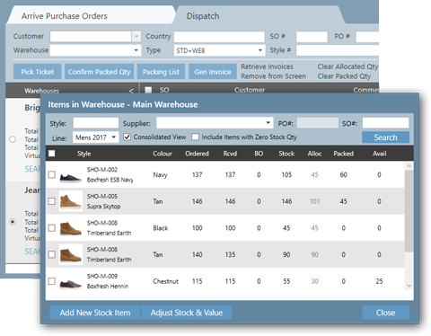 A cloud based software system designed specifically to solve the warehousing needs of fashion brands